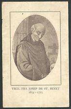 Estampa antigua de San Francisco Jose andachtsbild santino holy card santini