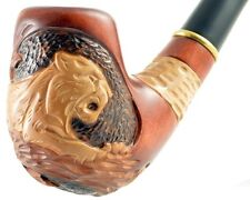"Carved tobacco smoking pipe *Panther* (Cooling filter) | pipes - 6.1"" (15,5cm)"