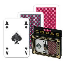 1 Copag Doppelpack Plastik Poker Spiel, Regular Face, 4 Pips,Kartenspiele Frobis