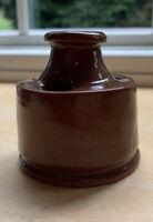 Old Sturbridge Village Redware Pottery Inkwell.