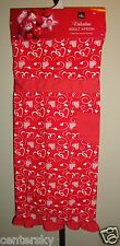 New listing New Home Wear Cotton Blend Valentine Adult Apron Red with White Heart Swirl Os
