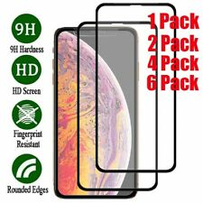 For iPhone 11 Pro Max XR XS MAX Full Cover Screen Protector Tempered Glass Film
