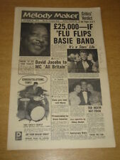 MELODY MAKER 1957 OCTOBER 26 COUNT BASIE DAVID JACOBS TOMMY STEELE TED HEATH +
