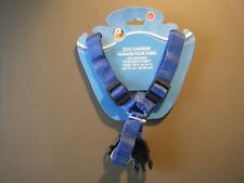 DOG HARNESS PAWS N CLAWS BLUE ADJUSTABLE CHEST HARNESS - SIZE LARGE