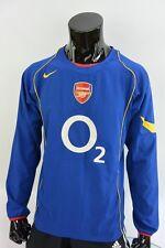 2004-06 GUNNERS nike Arsenal FC Long Sleeve Away Football Shirt SIZE M (adults)