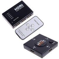 5 port/3 Port 1080P HDMI Switch Remote Video Switcher Splitter For PS3 HDTV DVD