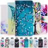Flip PU Leather Card Wallet Cover Stand Phone Case For Samsung Galaxy / Huawei