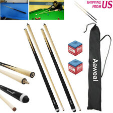2 X Wooden Billiard Stick Snooker Pool Cue 57in 12oz/19oz Black House Sport