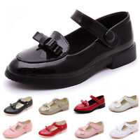 GIRLS KIDS BUCKLE CUT OUT GEEK T-BAR SCHOOL FLAT CHILDREN PUMPS SHOES SIZE 8-2