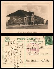 RPPC G.N. (Great North) Depot Bemidji Minn. Printed Germany Purple Postmark