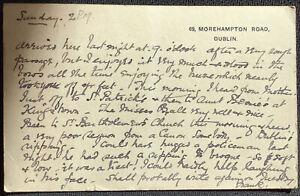 Dublin Corespondent 1904 Postcard Rough Passage on Sea to Wales