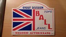 Adesivo Sticker BALL jeans GROUP DIVISION Negozio Autorizzato  cm 24 x 19  Big