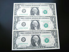 (3) $1 1969 (( CHICAGO)) FEDERAL RESERVE NOTE CHOICE UNC BU NOTE