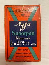 1937 Vintage  AGFA Superpan Film pack   unopened