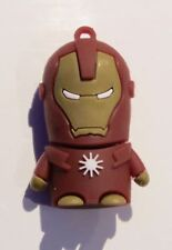 Minigz Iron-Man Memoria Usb 32gb Tarjeta De Memoria Super Hero KEYRING Flash Computadora Pc
