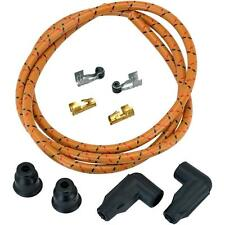 Custom 8mm Suppression Core Cloth Spark Plug Wire Sets - Oak with Red and Black