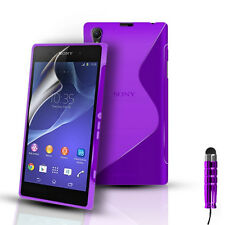 S-Line Silicone Gel Case Cover Pouch For Sony Xperia Z2 D6503 & Screen Protector