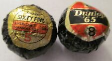 2 DIFFERENT KINDS OF WRAPPED DUNLOP 65 GOLF BALLS ONE IS AN EARLY VERSION