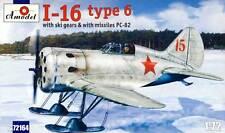 Amodel - Polikarpov I-16 type 6 fighter Ski & Missiles PC-82 Modell 1:72 kit NEU
