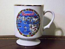 Hawaii Souvenir Footed Mug Cup Map Islands Vintage