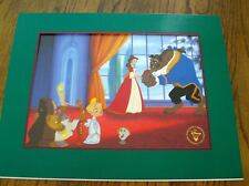 RARE DISNEY'S BEAUTY & THE BEAST-ENCHANTED CHRISTMAS EXCL. COM. LITHOGRAPH-NEW
