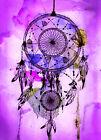 "Beautiful Dreamcatcher CANVAS ART PRINT spiritual Native purple poster 24""X16"""