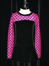 Black Hot Pink Figure Ice Skating Competition Dress