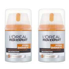 2 x L'Oreal Men Expert Hydra Energetic Anti-Fatigue Moisturising Cream 50ml