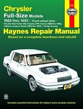 Reparaturhandbuch Chrysler New Yorker & 5th Avenue 88 - 93