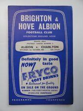 More details for brighton v charlton athletic | 1960/1961 | div. 2 | 15 oct 1960 | uk freepost