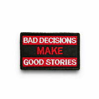 Hook Badge Craft Sew Fabric Sticker Stories Make Bad Good On Loop Decision Patch