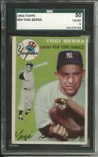 1954 Topps #50 Yogi Berra (HOF) Yankees! SGC 50  VG/EX