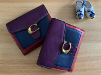 NWT Coach Tabby Colorblock Leather Wallet $150 multi color metallic NEW