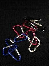 Aluminum Snap Hook Carabiner D-Ring Key Clip Keychain 10 Assorted Sizes New