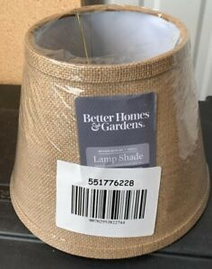 New, Better Homes and Gardens Accent Lamp Shade, Burlap.(Some hits Inside) See