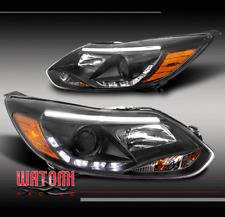 12 13 14 FORD FOCUS S SE SEL ST DRL LED PROJECTOR HEADLIGHT LAMP BLACK NEW PAIR
