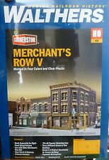 Walthers Cornerstone HO #4041 Merchant's Row V -- Kit - 10-1/2 x 6-7/8 x 5-5/16""