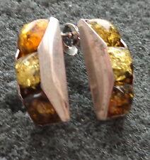 BALTIC  COGNAC & GREEN    AMBER  earrings  WOMEN  #19 s