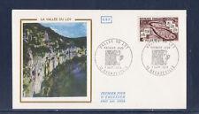 enveloppe 1er jour  vallée du Lot    Decazeville      1974