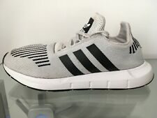 ADIDAS Originals Swift Core GREY/WHITE/BLACK Trainers MENS 8 (FREE PACK Insoles)