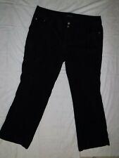 Womens  LANE BRYANT Black Corduroy Dress Pants Size 22