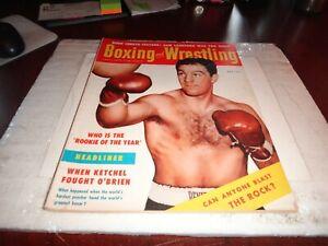 Boxing And Wrestling Magazine november 1954 sam langford yvon robert nwa wbc