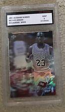 Rare 1991 Upper Deck Michael Jordan #AW4 Hologram Card 1st Graded 9 Mint