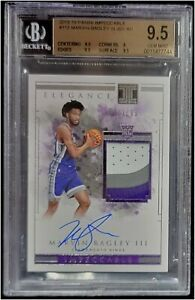 2018-19 Impeccable Marvin Bagley lll 3 Color Auto/Jrsy Patch RC /99 BGS 9.5/10
