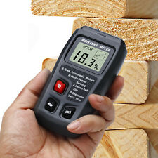 LCD Display Digital Wood Moisture Meter Humidity Tester w/ 4 Steel Sensor