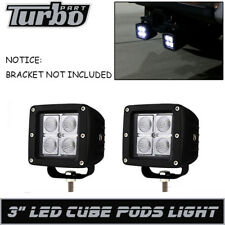 """Pair 3"""" Led Flood Light Fit Rear Reverse SUV OffRoad Truck 3"""" Tow Hitch Bracket"""