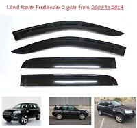 Land Rover Freelander 2 WINDOW DEFLECTOR VISOR VENT SHADE SUN GUARD BLACK - W111
