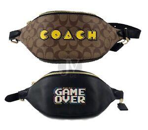 Coach (F72909 F72910) Pacman Motif Belt Waist Bag Handbag