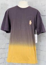 New 2019 Neff Men's Dip Dye Short Sleeve Tee Shirt Medium Lilac/Vintage Purple