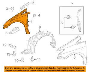 TOYOTA OEM 12-16 Prius V-Front Fender Quarter Panel Right 5380147060